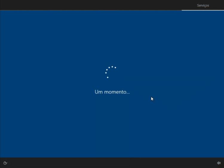 Finalizando a instalação do Windows 10
