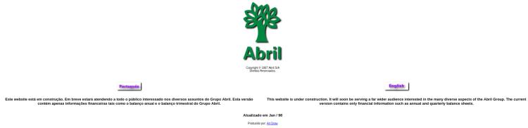 Editora Abril em abril de 1998