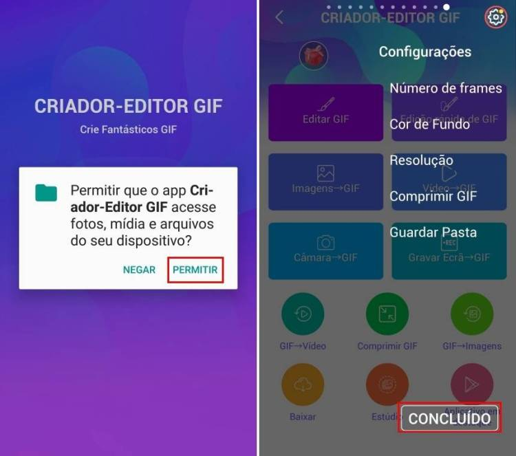 Abrir programa Criador de GIF