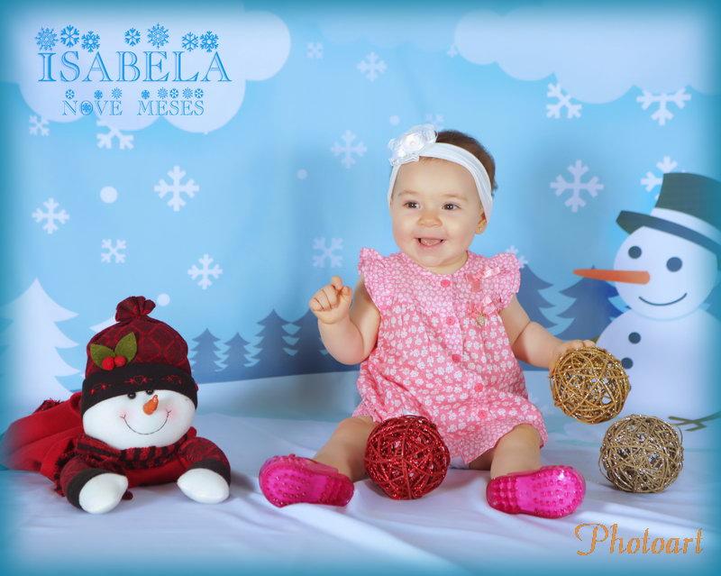 Isabela com nove meses em seu primeiro natal
