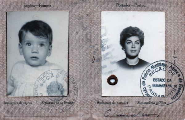Foto: arquivo Andrea Tissenbaum   Meu primeiro passaporte