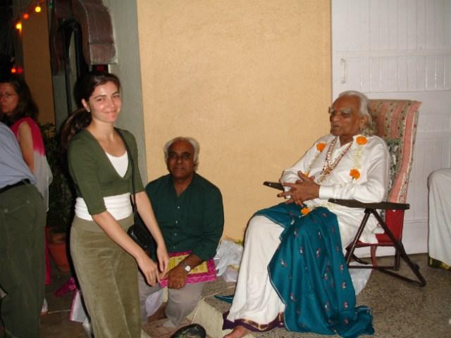 B.K.S. Iyengar e Camila | Foto: Camila Raso