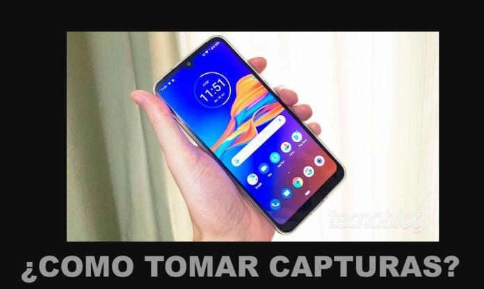 Cómo hacer o tomar capturas de pantalla en Motorola Moto E6 Plus