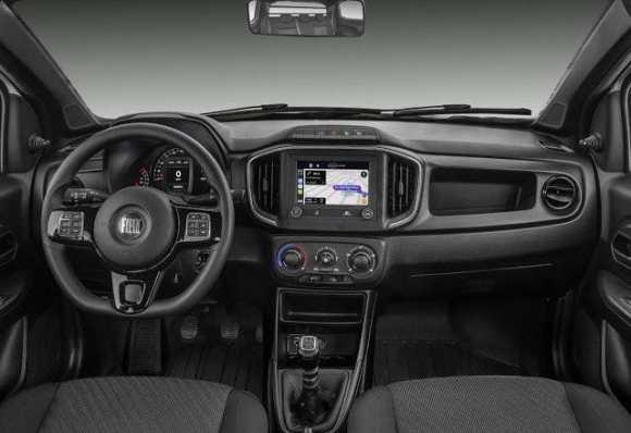 Interior de la Fiat Strada 2021