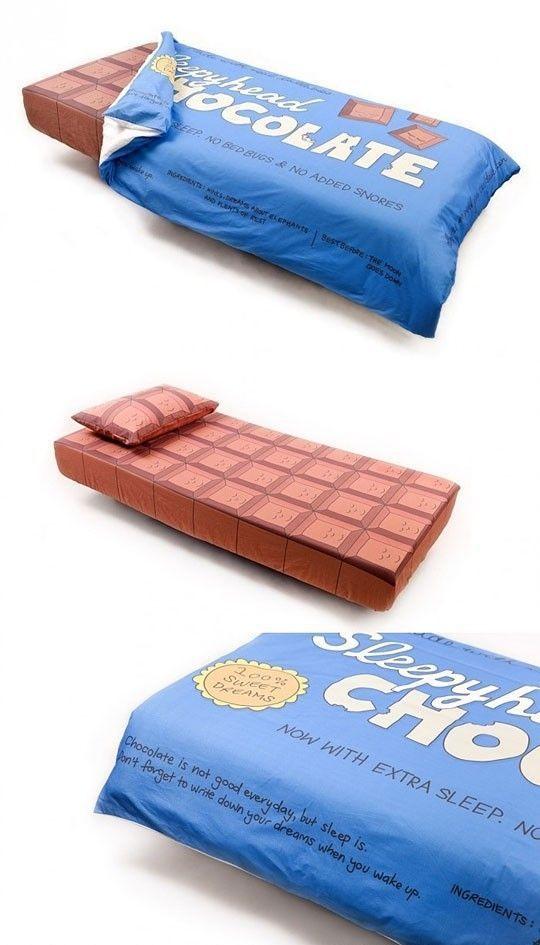 cama para fans del chocolate Cama para fans del chocolate