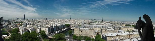 Panorámica de París desde Notre Dame
