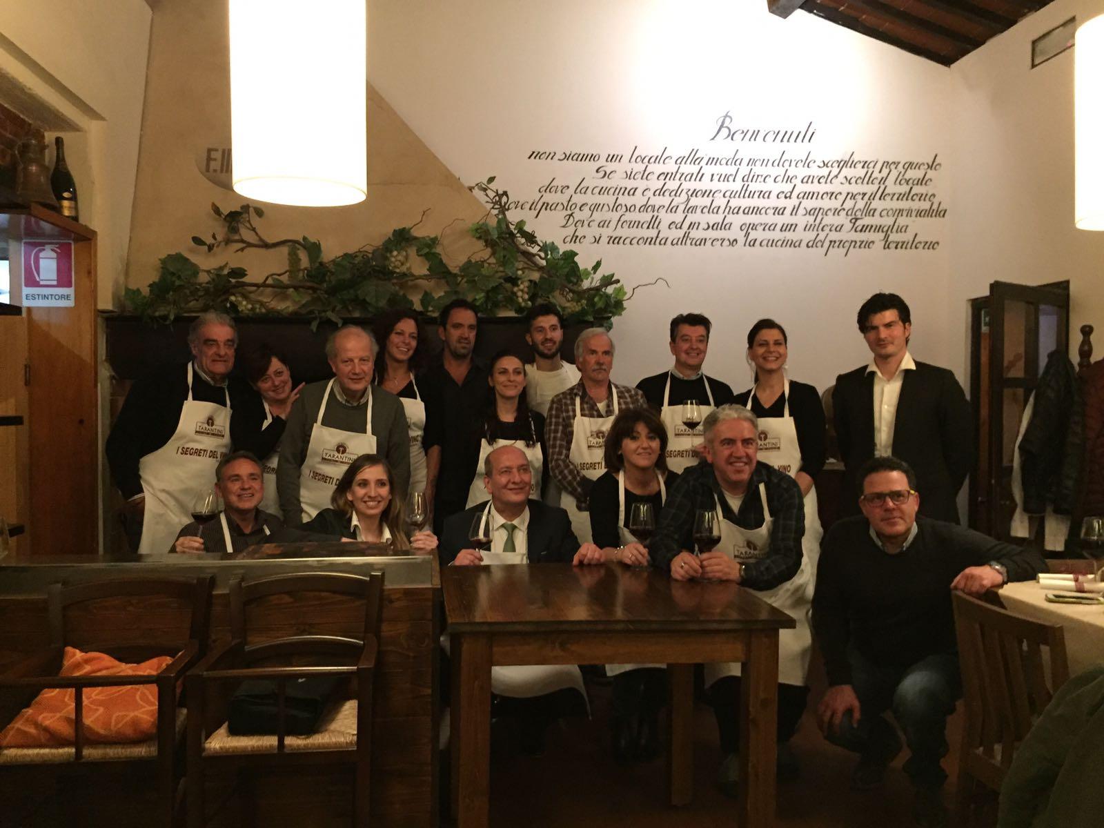 I Segreti del Vino successo del Minicorso al Ristorante F.lli Bernadini di Pontedera