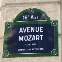W.A. Mozart a Parigi: Avenue Mozart
