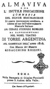 Barbiere di Siviglia, locandina prima rappresentazione a Roma al Teatro Argentina