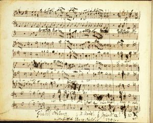 George Frideric Handel Messiah manoscritto Amen Finale