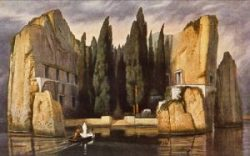 Isola dei Morti quadro Bocklin