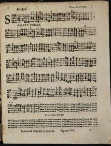 Isabella Leonarda Spartito Sonate op.16