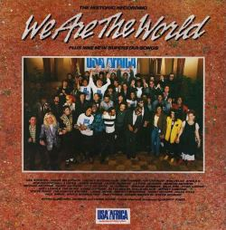 La copertina del disco di We Are The World