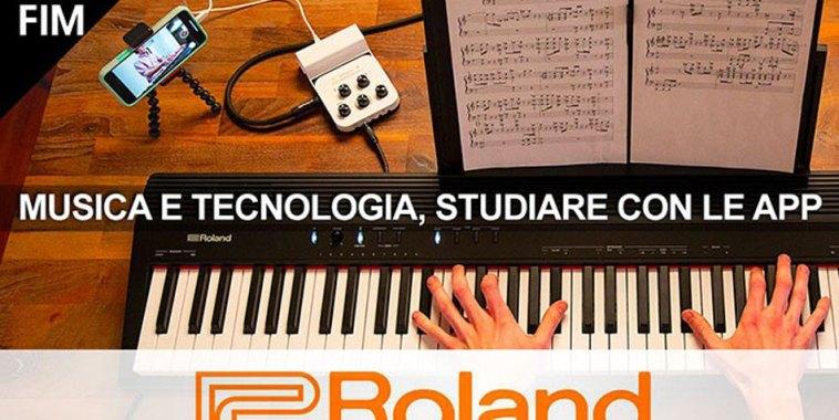 Studiare con le App e i pianoforti digitali Roland