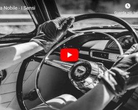 volante auto tenuto da due mani femminili