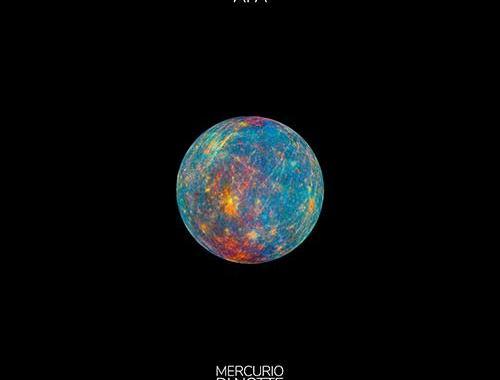 pianeta mercurio con fondo nero al centro della copertina del disco degli AFA