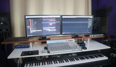 panoramica di uno studio di registrazione