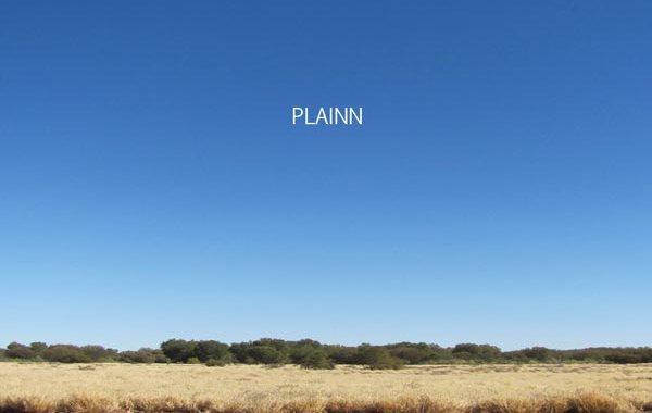 un cielo azzurro nella copertina del disco di Paolo Brusò Plainn