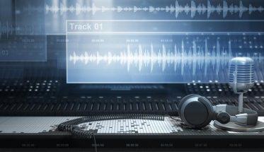 schermo del computer con tracce audio per Creare una canzone di successo