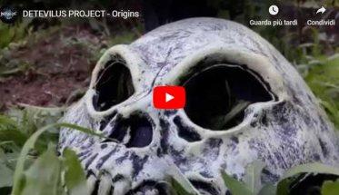 un teschio nella copertina del video di Detevilus Project: Origins