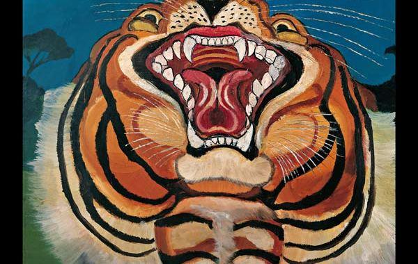 Copertina del disco dei C+C=Maxigross: Deserto con il disegno di una tigre
