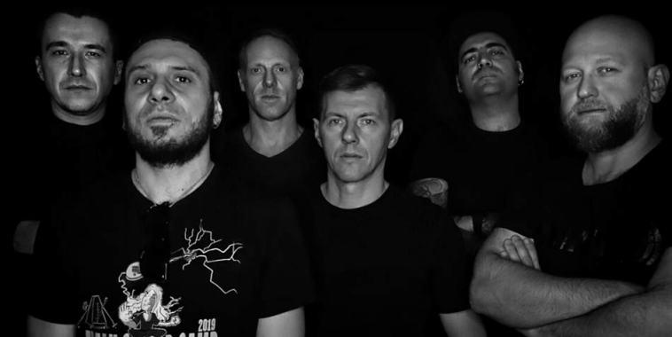 La band dei Dammercide, foto in bianco e nero