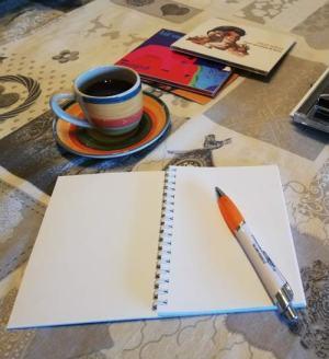 Quadernetto penna tazza caffe e cd