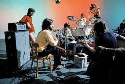 I Beatles mentre registrano Get Back