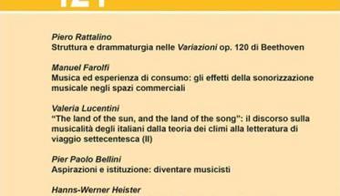 copertina gialla senza immagini con testo di Musica / Realtà - n.121