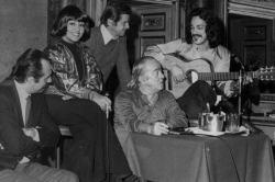 Leone Piccioni, Maria Creuza, Sergio Endrigo, Vinicius de Moraes e Toquinho