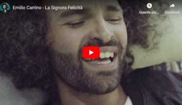 Emilio Carrino in copertina del video di La Signora Felicità