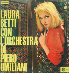 Laura Betti in copertina del disco Laura Betti con l'Orchestra di Piero Umiliani del 1960
