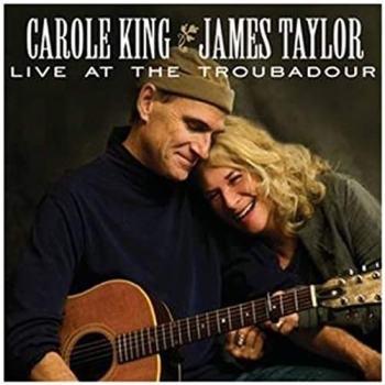 "James Taylor e Carole King in copertina del disco ""Live at the Troubadour"""