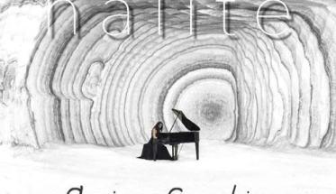 un pianoforte nella cava di sale in copertina del disco di Floriana Franchina: Halite