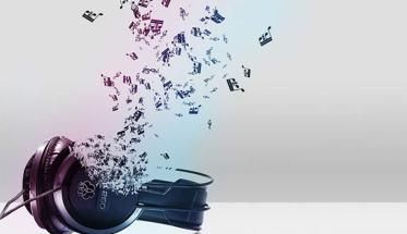 cuffie da cui fuoriescono delle note, la funzione della musica