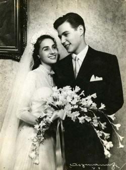 Tom Jobim nel giorno del suo matrimonio con Teresa Otero Hermanny