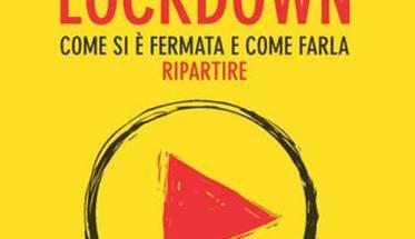 copertina del libro di Riccardo De Stefano: Musica in lockdown con fondo giallo e scritte rosse