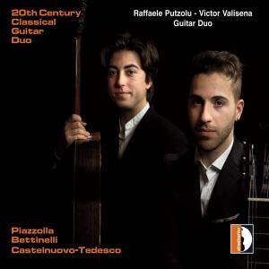 Raffaele Putzolu e Victor Valisena in copertina del disco 20th Century Classical Guitar Duo