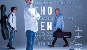 Il Trio Metamorphosi in copertina del disco Beethoven Piano Trios Project