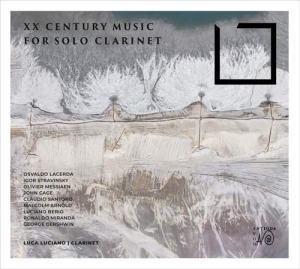 Copertina del disco XX Century Clarinet, il disco di Luca Luciano