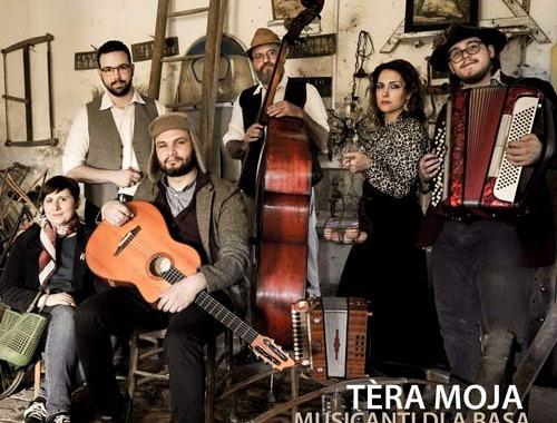 I Musicanti dla Bàsa in copertina del disco: Tèra Moja