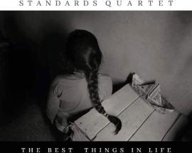 copertina del disco di Stefano Battaglia Standards Quartet, The Best Things in Life are Free