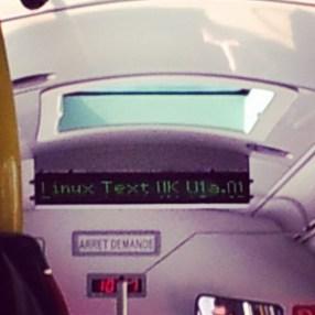Mon bus sous linux XD