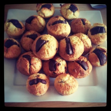 Muffins au chocolat <3