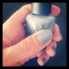 Manucure bleu/gris