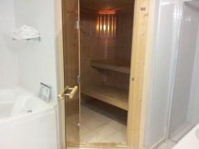 Et un vrai sauna !