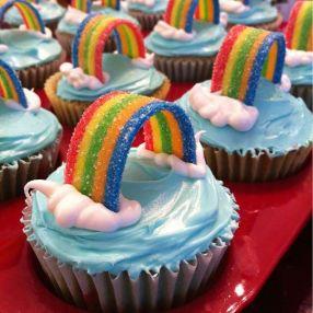 cupcakes arc en ciel