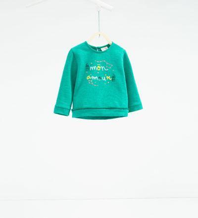 sweat vert 14,95€