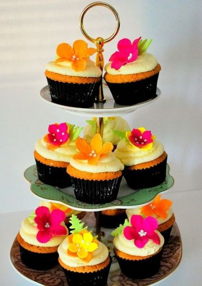 cupcakes tropical