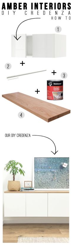 Source : http://amberinteriordesign.com/diy-credenza/